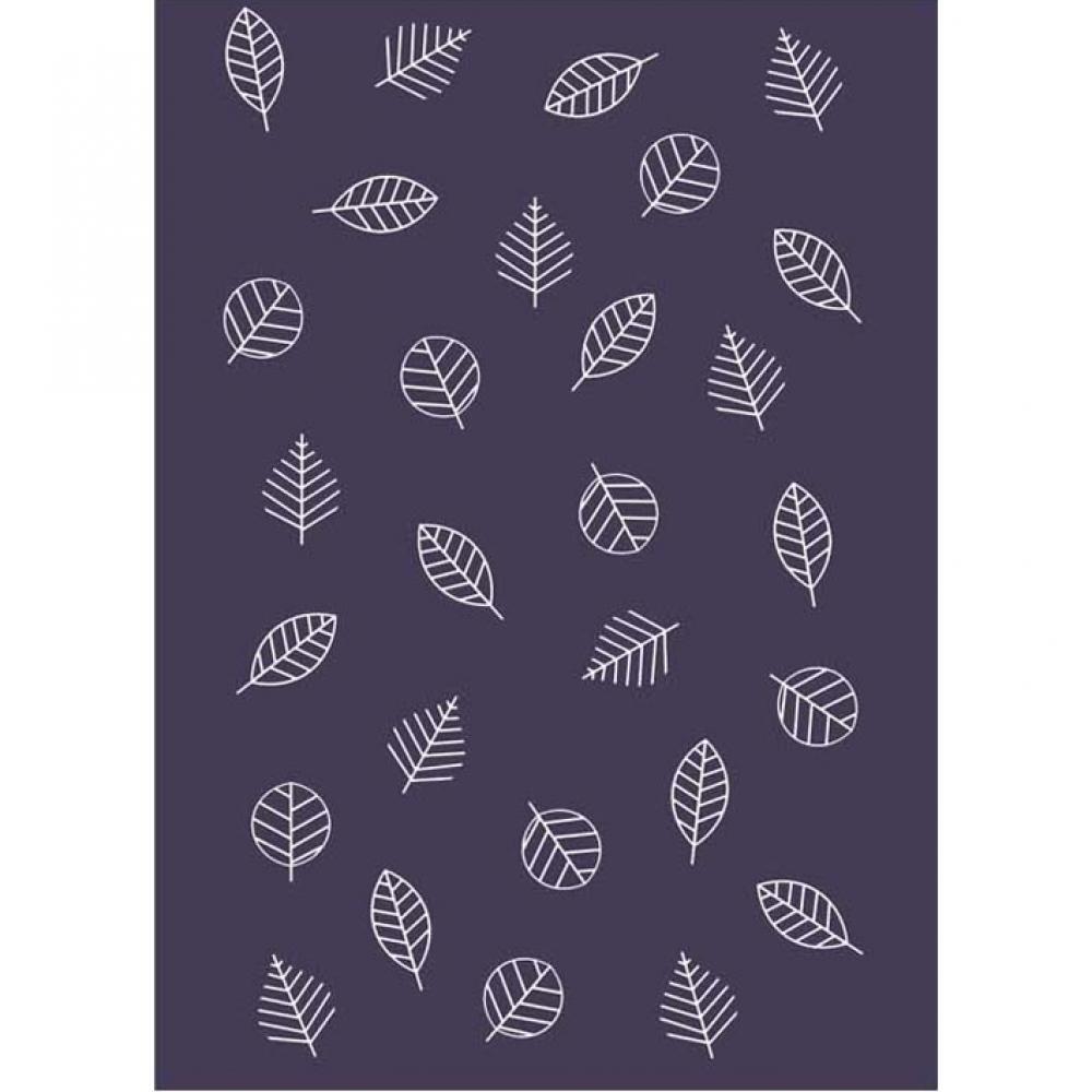 Одеяло байковое взрослое 150x212 Листья черничный