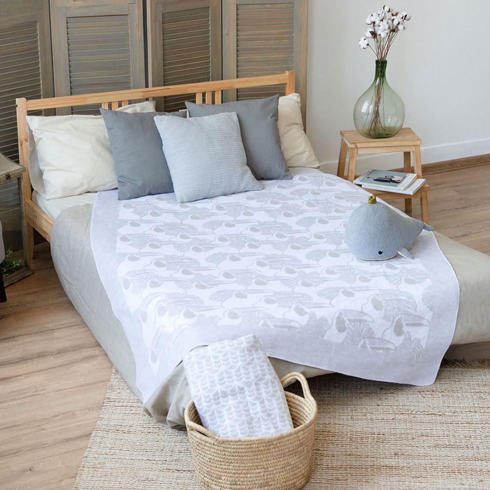 Байковое одеяло взрослое 150x212 Туканы Ермолино