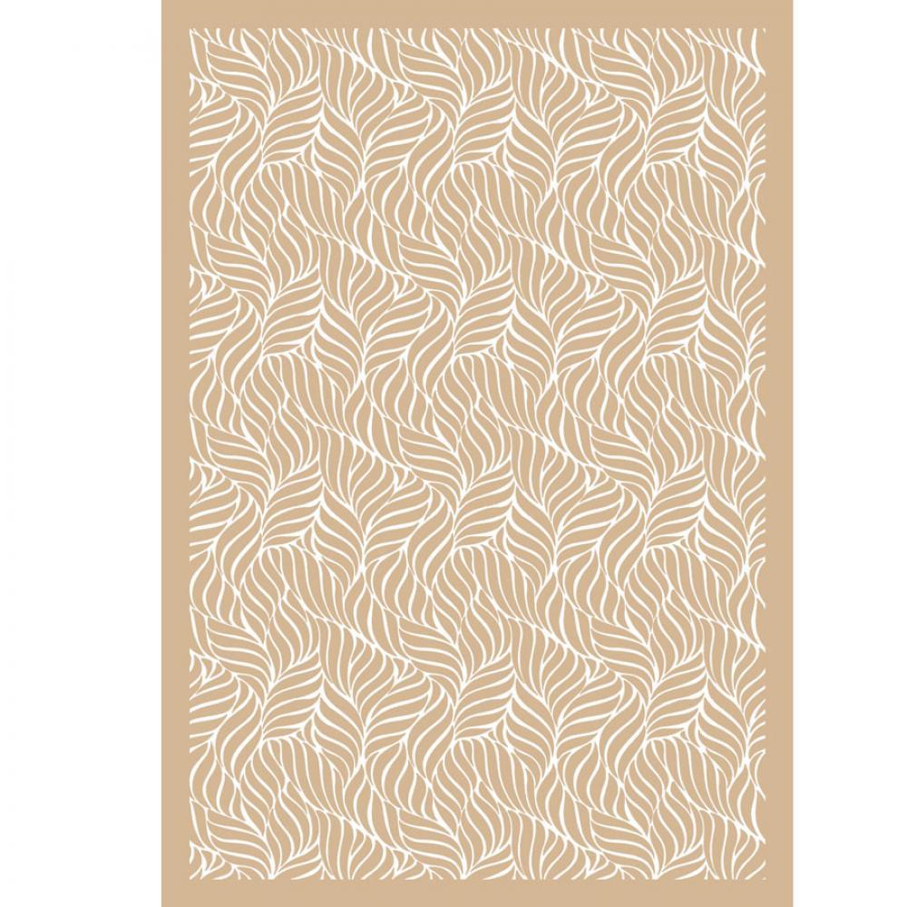 Одеяло байковое взрослое 150x212 Орнамент бежевый