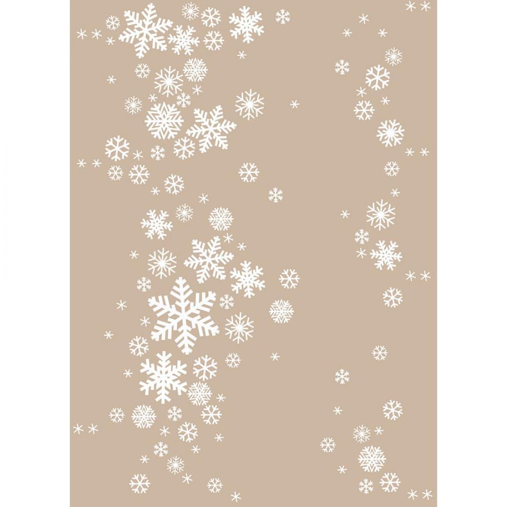 Одеяло байковое взрослое 150x212 Снежинки дымчатый