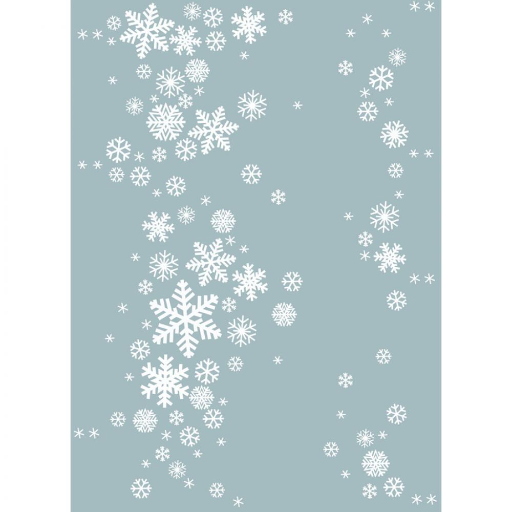 Байковое одеяло взрослое 150x212 Снежинки цвет льдистый Ермолино