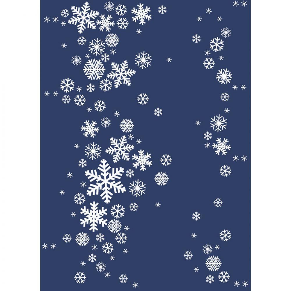 Байковое одеяло взрослое синего цвета 150x212 Снежинки Ермолино