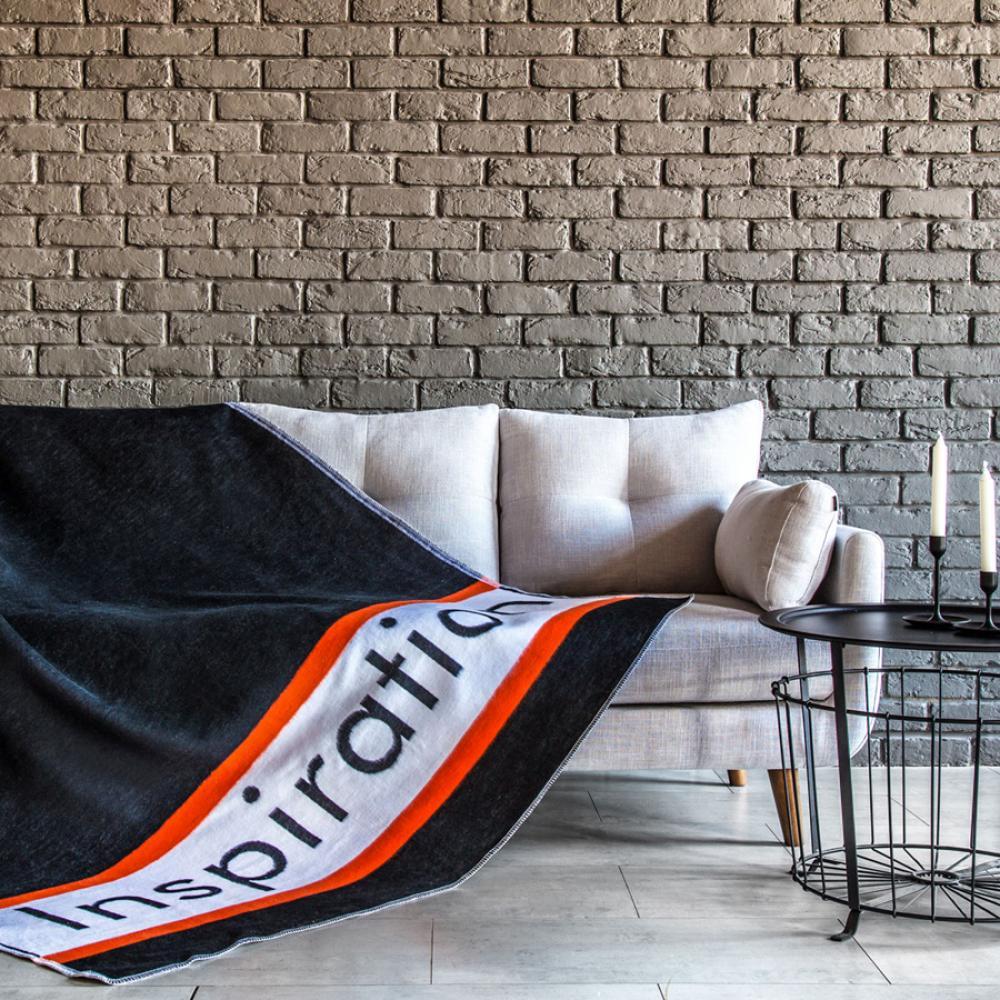 Одеяло байковое взрослое 150x212 Вдохновение черное