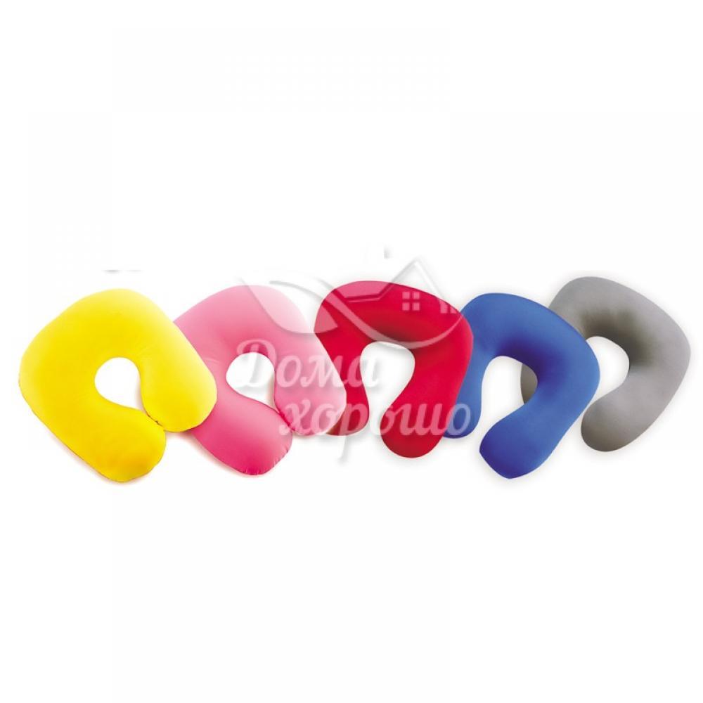 Антистрессовая декоративная подушка-рогалик Дорожная Турист для шеи 30x30