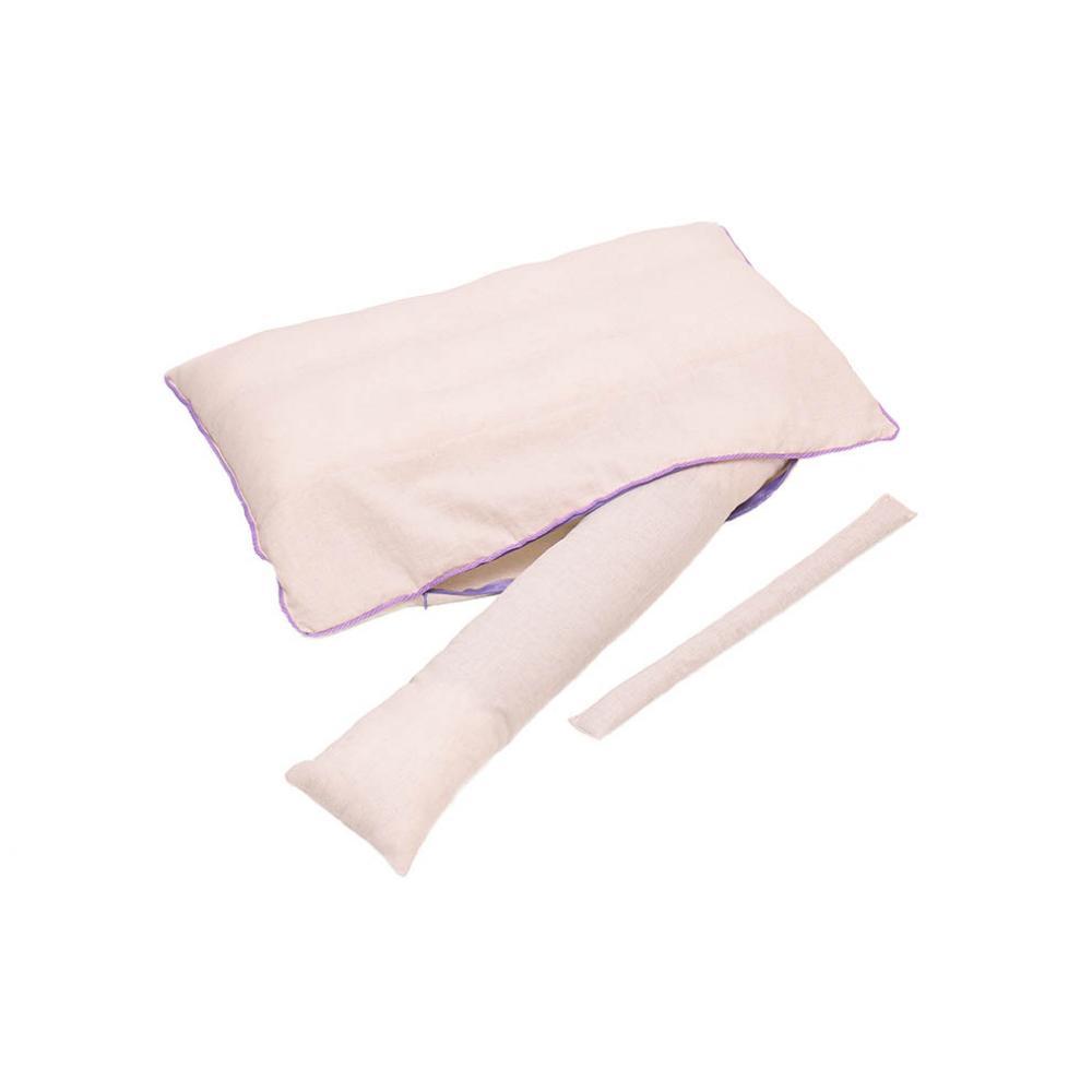 Подушка Бьюти с валиком из лузги гречихи и лаванды 40x60