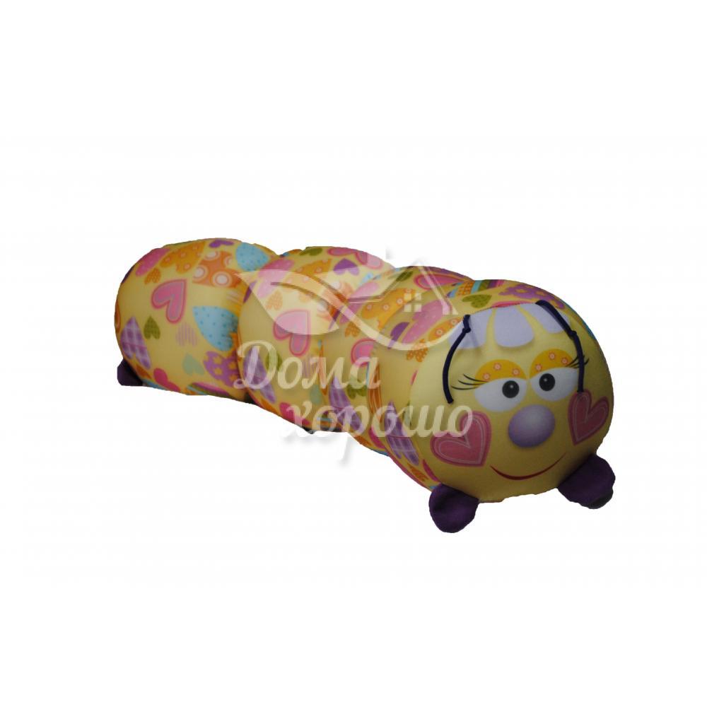 Антистрессовая игрушка-валик Гусеница