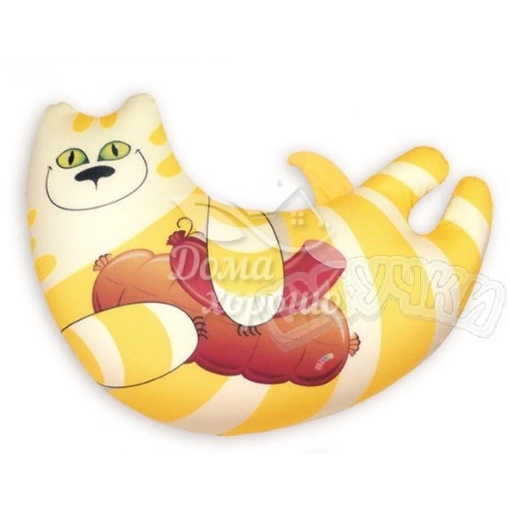 Антистрессовая игрушка-подушка Кот Колбаскин