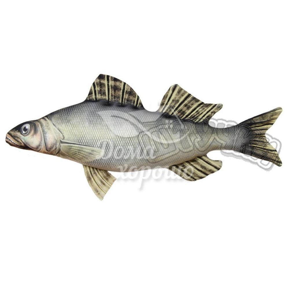 Антистрессовая игрушка Рыба Судак 54x25, 65x30, 115x54