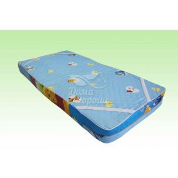 Детский матрас поролоновый 60x120 борт 10 см Аэлита (пенополиуретан)