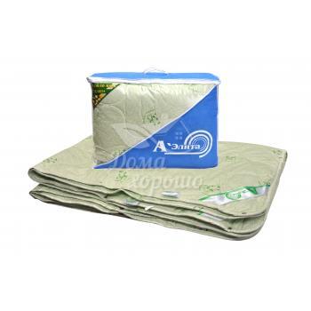 Одеяло бамбук (бамбуковое) 4 сезона Бест 140x205 полуторное (комбинация двух одеял) Аэлита