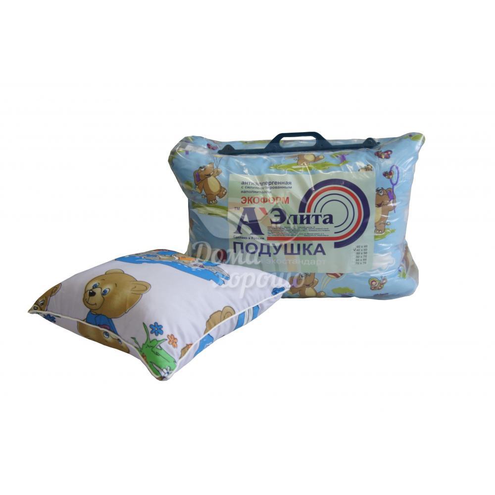 Подушка Экоформ с силиконизированным наполнителем для детей