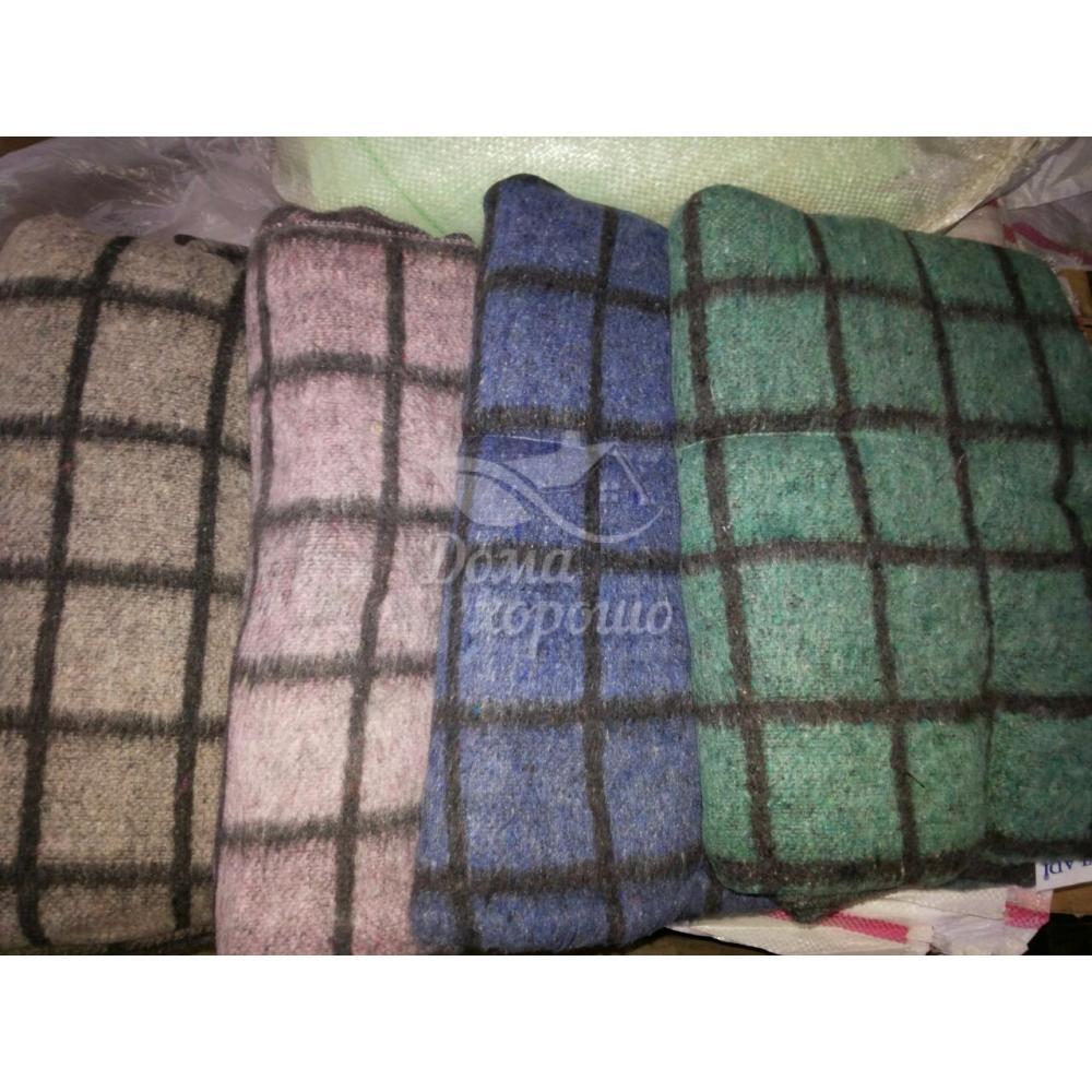 Одеяло шерстяное Эконом оверлок 140х205