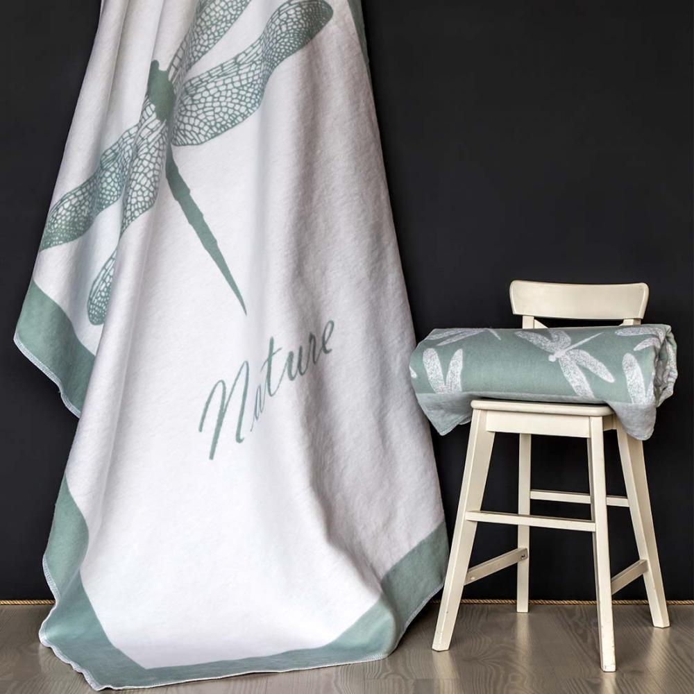 Одеяло байковое взрослое 150x212 Стрекоза льдистый