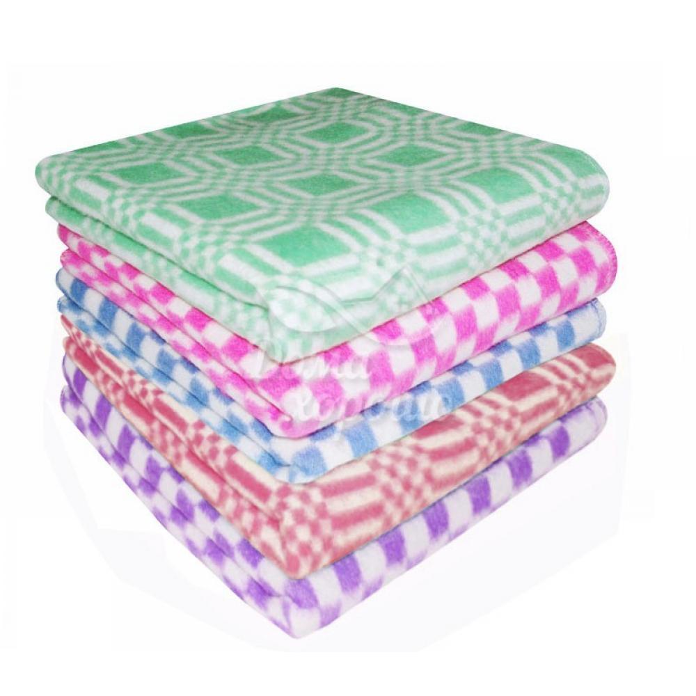 Одеяло байковое 140x205 цветное в клетку