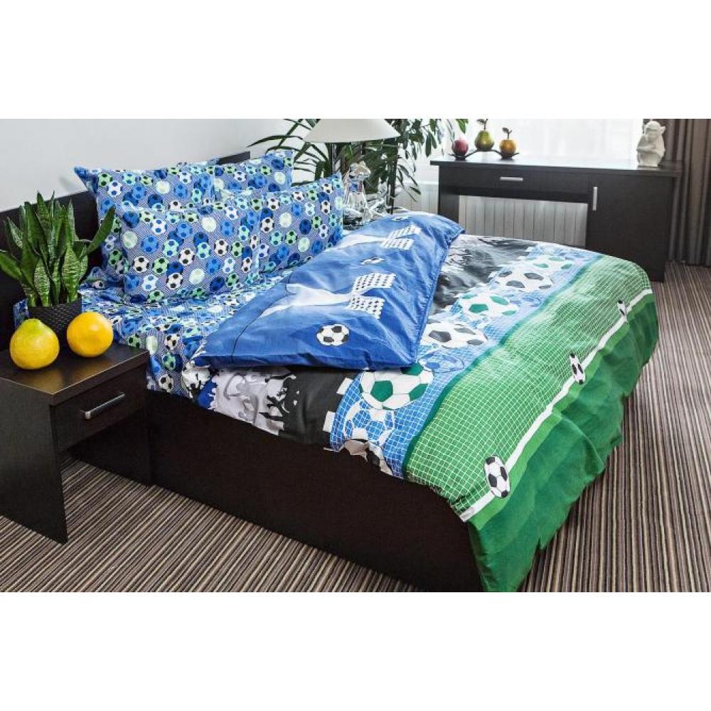 Постельное белье детское хлопок 1,5 спальное с 1 наволочкой 50x70 Футбол