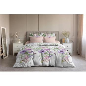 Постельное белье Ночь Нежна Цветы мята (семейное, евро, 1.5, 2 спальное) поплин