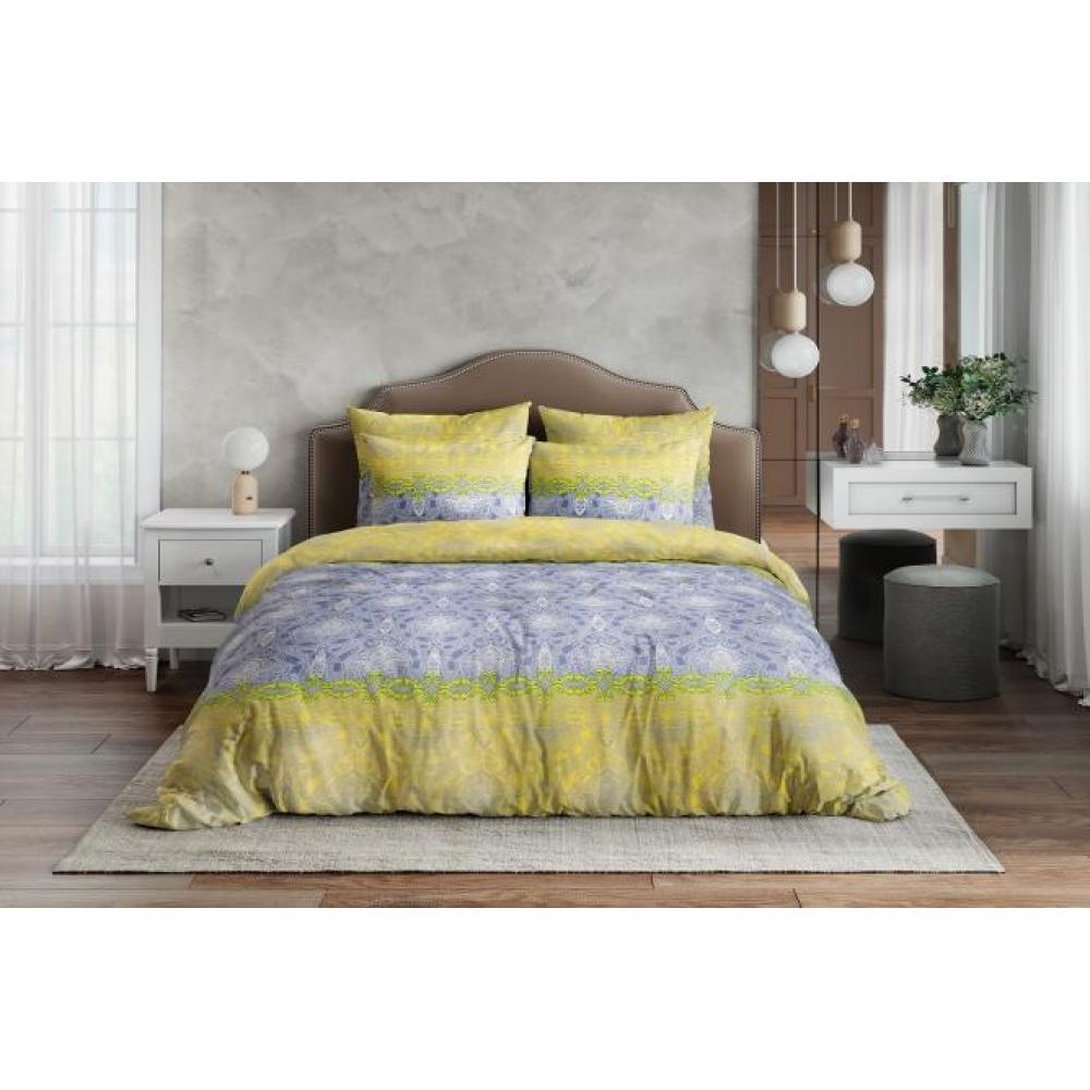 Постельное белье поплин Восточная принцесса желтый Ночь Нежна (семейное, евро, 1.5, 2 спальное)