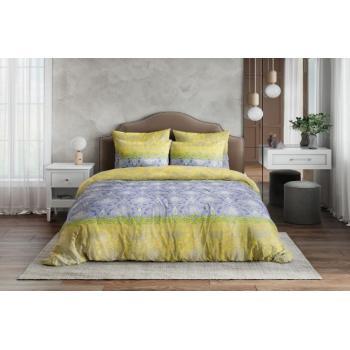 Постельное белье Ночь Нежна Восточная принцесса желтый (семейное, евро, 1.5, 2 спальное) поплин