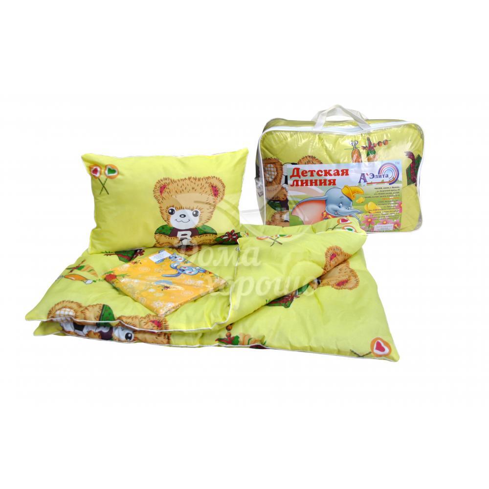 Постельный набор детский для новорожденных Карапуз с КПБ (ткань бязь)