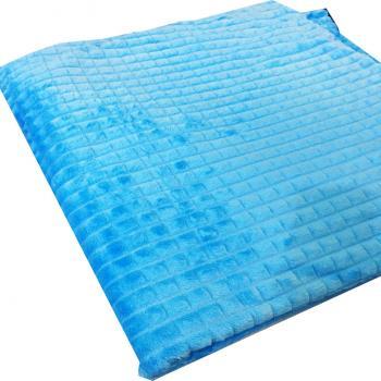 Плед флисовый А3 искусственный мех 200x220 голубой