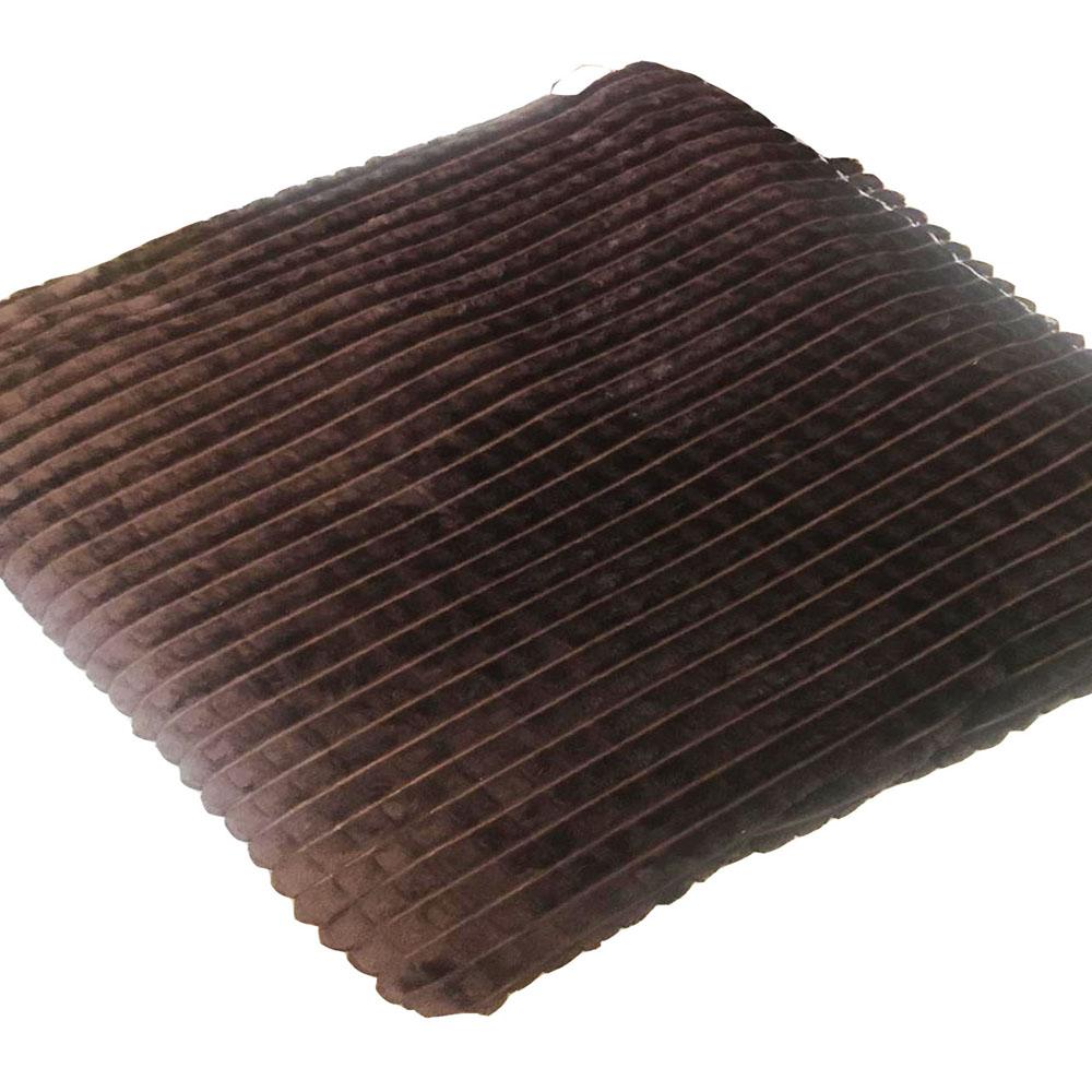 Плед флисовый А3 искусственный мех 200x220 коричневый