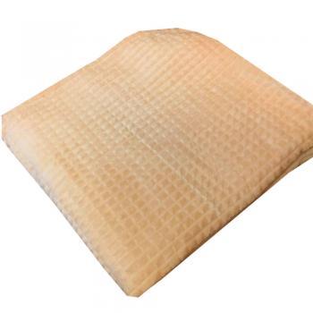 Плед флисовый А3 искусственный мех 200x220 песок
