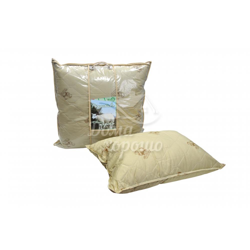 Подушка из овечьей шерсти 2-х камерная Романтика 60x60, 50x70, 70x70