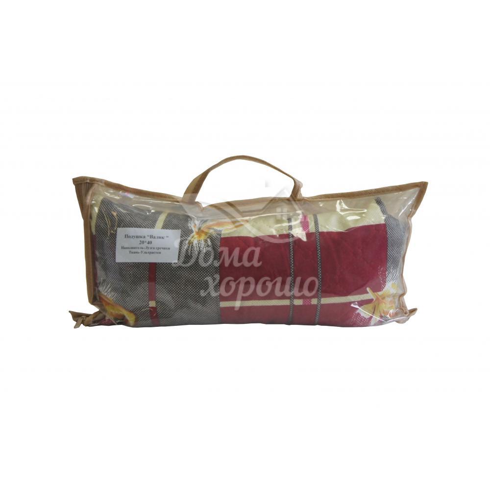 Подушка декоративная Валик 20x40 лузга гречихи