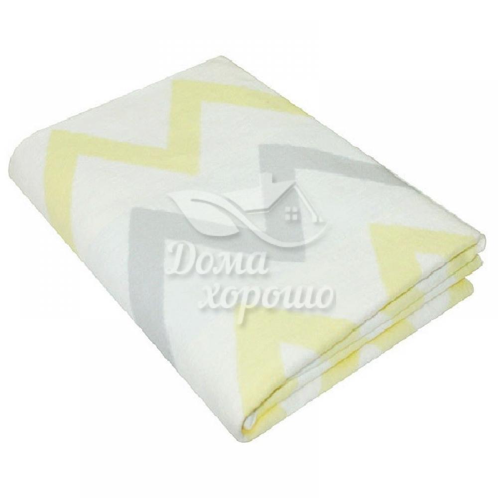 Одеяло байковое х/б взрослое 205x150 Зигзаги