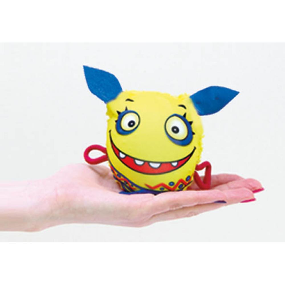 Игрушка-мочалка растущая в воде Монстрик желтый